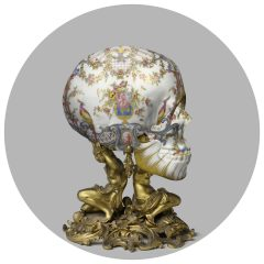 Limited edition Magnus skull on paper
