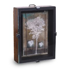 Original mixed media assemblage illuminated story box